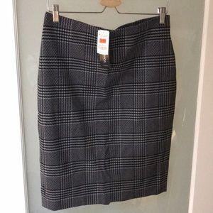 Plaid Houndstooth Skirt